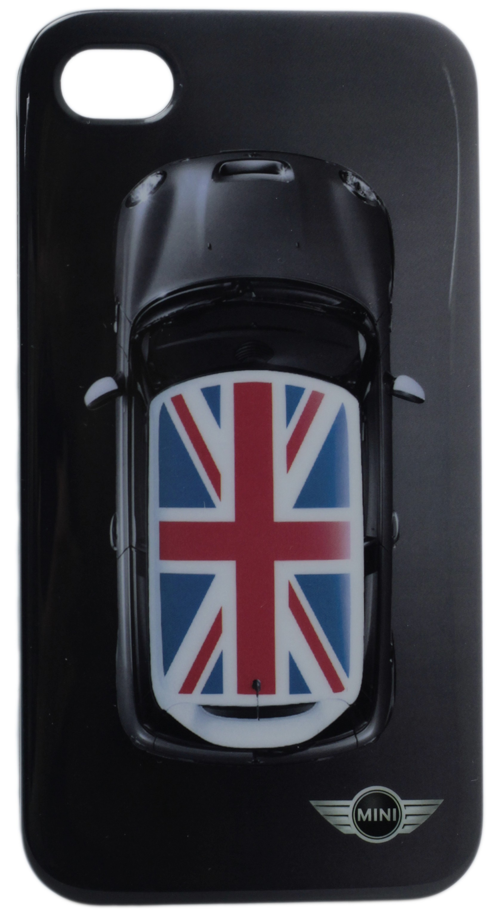 Чехол силиконовый Mini Cooper для iPhone 4 UK Flag Black (MNHCP4UKB)